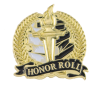 Bright Gold Academic Honor Roll Lapel Pin Lapel Pins