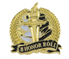 Bright Gold Academic B Honor Roll Lapel Pin Lapel Pins