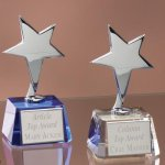 Small Stars with Crystal Bases Achievement Award Trophies