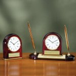 Desk Clock - Domed Achievement Award Trophies