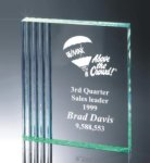 Fluted Side Acrylic Award Achievement Award Trophies