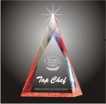 Multi Faceted Pyramid Acrylic Award Achievement Award Trophies