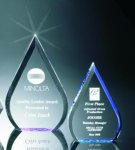 Beveled Teardrop Acrylic Award Achievement Award Trophies