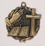 Wreath Religious Bible /Cross Medal All Trophy Awards