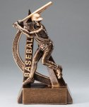 Ultra Action Series Sculpted Antique Gold Resin Trophy -Baseball Male Baseball Trophy Awards