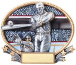3D Oval -Baseball Male Baseball Trophy Awards