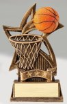 Star Series Sculpted Antique Gold Resin Trophy -Basketball Basketball Trophy Awards
