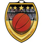 Vibraprint? Shield Medallion -Basketball Basketball Trophy Awards