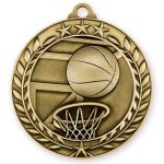 Wreath Medal -Basketball Basketball Trophy Awards