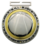 Dual Plated Medallion -Basketball Basketball Trophy Awards