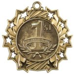 Ten Star Medal -1st Place  Basketball Trophy Awards