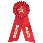 2nd Place Rosette Ribbon Basketball Trophy Awards