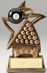 Star Series Sculpted Antique Gold Resin Trophy -Billiards Billiards/Pool Trophy Awards
