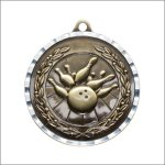 Diamond Cut Medal - Bowling Bowling Trophy Awards