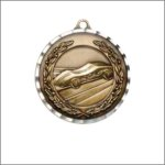 Diamond Cut Medal - Pinewood Derby Car/Automobile Trophy Awards