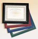 Leatherette Frame Certificate Holder Cheerleading Trophy Awards