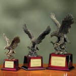 Eagle on Piano Finish Base Eagles Trophies