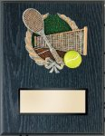 Tennis Resin Plaque Mount Award Education Trophy Awards
