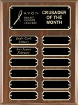 Walnut Finish Perpetual Plaque Employee Awards