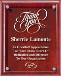 Rosewood  Plaque With Floating Acrylic Employee Awards