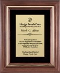 Genuine Walnut Frame with a Satin Finish Employee Awards
