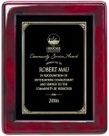 Rosewood High Gloss Piano Finish Plaque Employee Awards