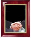 Rosewood Piano Finish Corporate Plaque Employee Awards