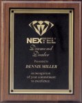 Plaque with Square Plate Award Employee Awards