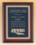 Rosewood Piano Finish Plaque with Marble Design Brass Plate Employee Awards