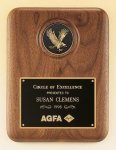 American Walnut Plaque with Eagle Medallion Employee Awards