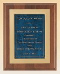 American Walnut Plaque with Gold Embossed Frame Employee Awards