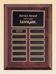 Cherry Finish Wood Perpetual Plaque Employee Awards