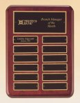 Rosewood Piano Finish Perpetual Plaque Employee Awards