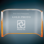 Gold Acrylic Crescent Employee Awards