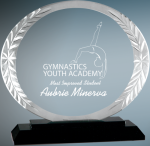 Oval Accent Glass Employee Awards