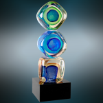 Stacked Blocks Art Glass Employee Awards