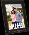 Leatherette Picture Frame -Black/Silver Employee Awards