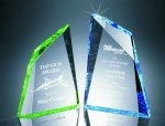 Faceted Mountain Cut Acrylic Award Employee Awards