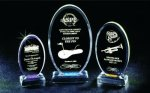 Beveled Oval Acrylic Award Employee Awards