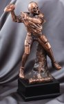 Elegant Series Sculpted Antique Bronze Resin Trophy -Football Football Trophy Awards