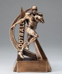 Ultra Action Series Sculpted Antique Gold Resin Trophy -Football Football Trophy Awards