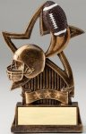 Star Series Sculpted Antique Gold Resin Trophy -Football Football Trophy Awards