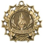 Ten Star Medal -Participant Football Trophy Awards