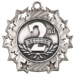 Ten Star Medal -2nd Place  Football Trophy Awards