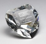 Corporate Crystal Heart Desk Accessory Gift Awards