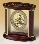 Skeleton Clock with Brass and Rosewood Piano Finish Gift Awards