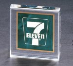 Emerald Marble Square Acrylic Paper Weight Gift Awards