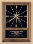 American Walnut Vertical Wall Clock with Square Face. Gift Awards