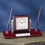 Dual Clock Pen Holder Gift Awards