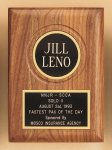 American Walnut Plaque with Routed Disk Area Golf Awards